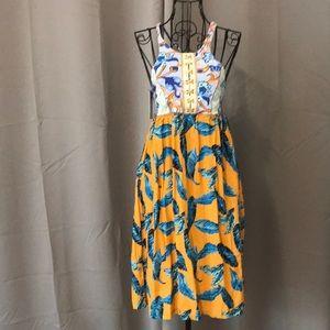 MAAJI Sun Dress Lace Up Back NWT L